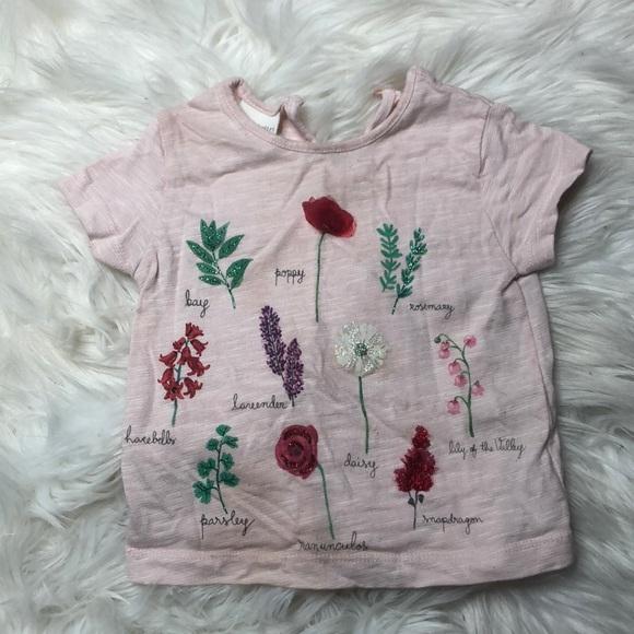 a60a82f9 Zara Shirts & Tops | Baby Girl Pink T Shirt 912 Months | Poshmark